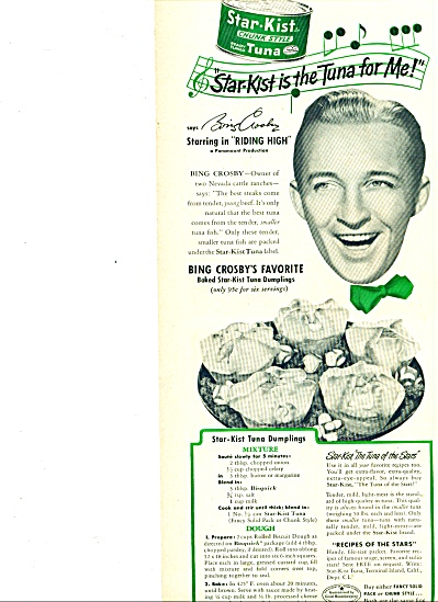 1941 - Star Kist Tuna - BING CROSBY (Image1)