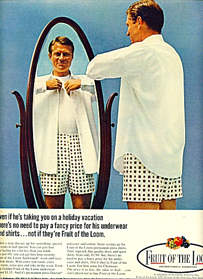 1968 - Fruit of the Loom ad (Image1)