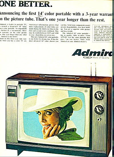 1968 -admiral Television Ad