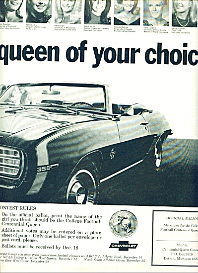 1968 -  Chevrolet  vote for the queen (Image1)