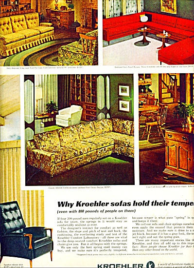 Kroehler sofas ad 1965 (Image1)
