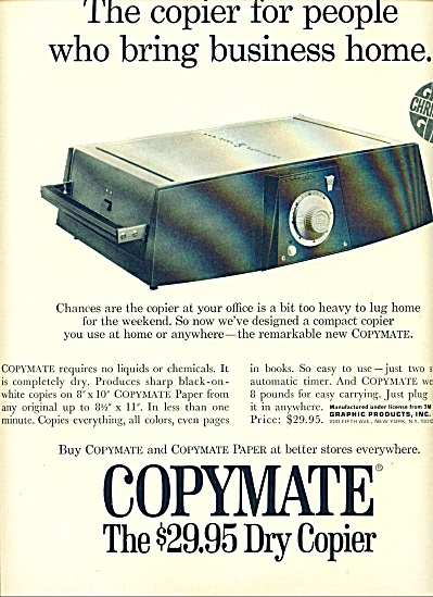 1968 -  Copymate dry copier ad (Image1)