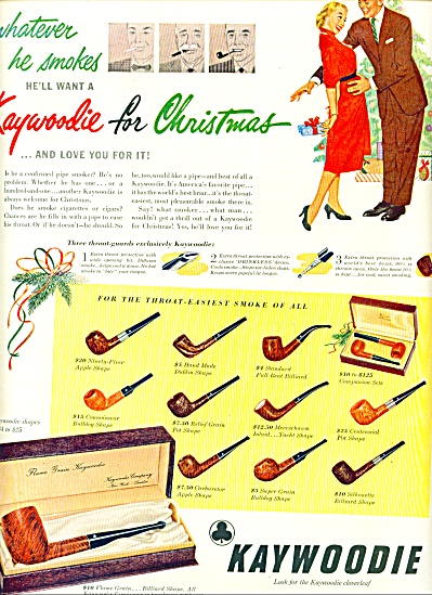 1951 -  Kaywoodie pipes ad (Image1)
