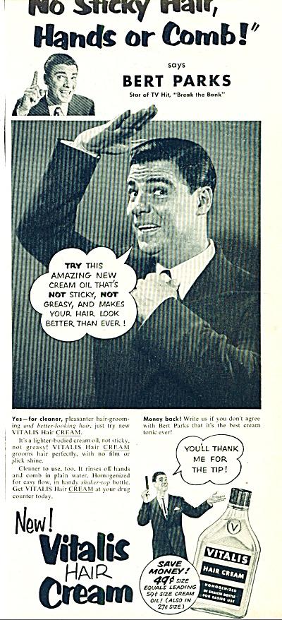 1951 - Vitalis hair cream  BERT PARKS (Image1)