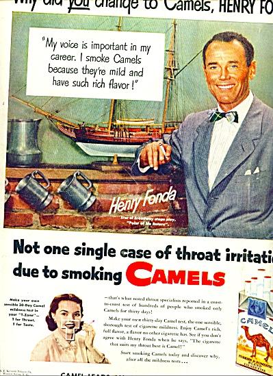 1951 - Camel Cigarettes - HENRY FONDA (Image1)
