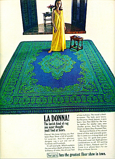 1968 - LaDonna rug - Sears ad W/ FASHION MODEL (Image1)