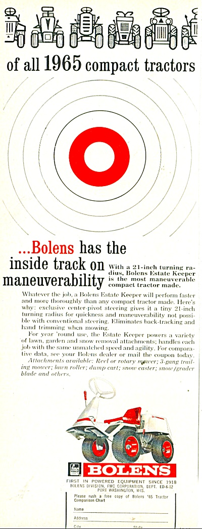 Bolens Powered Equipment Ad 1965