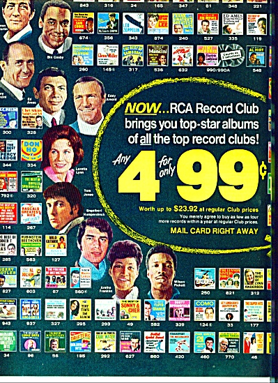 1970 - Rca Record Club Ad