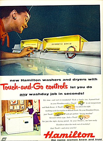 1956 - Hamilton washer and dryer ad (Image1)