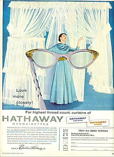 1956 -  Hathaway marquisettes curtains ad (Image1)