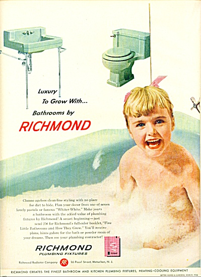 1956 - Richmond plumbing fixtures ad (Image1)
