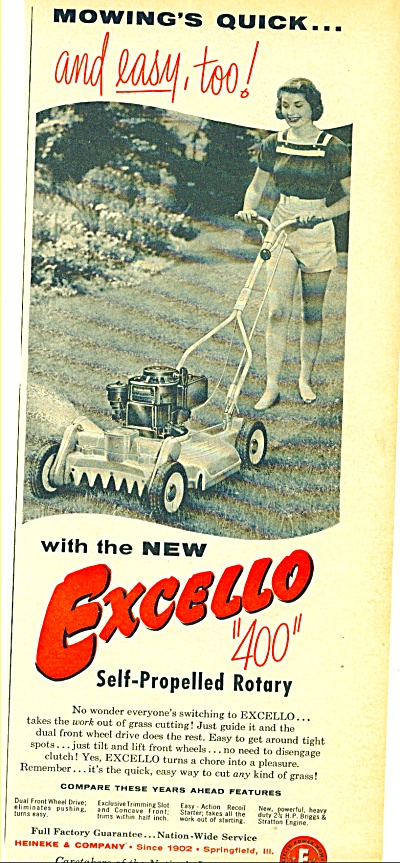 1956 -  Excello 400 mower ad (Image1)