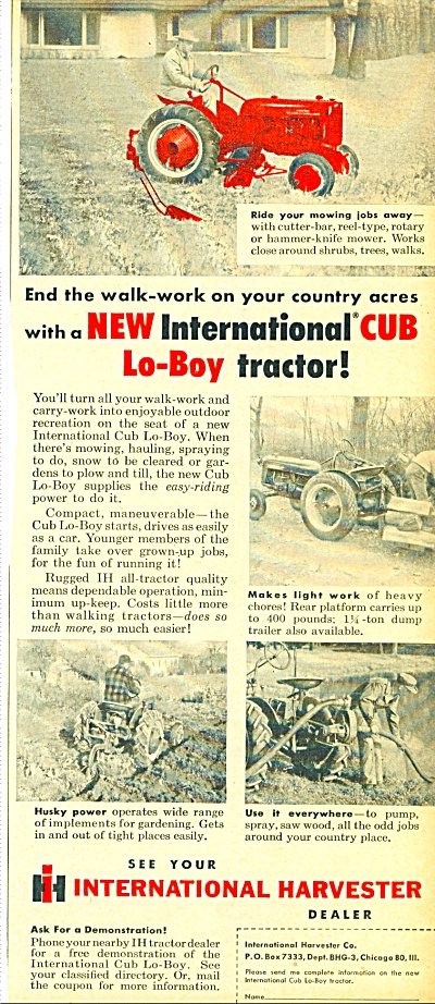 1956 =- International Harvester Cub Tractor