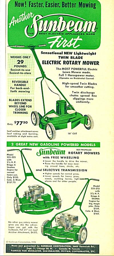 1956 -  Sunbeam rotary mowers ad (Image1)