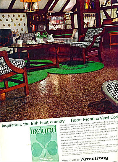 Armstrong vinyl floors ad  1965 CORLON IRISH HUNT (Image1)