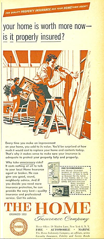 1956 -  The Home insurance company ad (Image1)