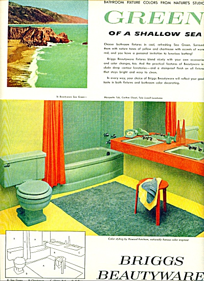 1956 - Briggs Beautyware ad RETRO BATHROOM DESIGN (Image1)