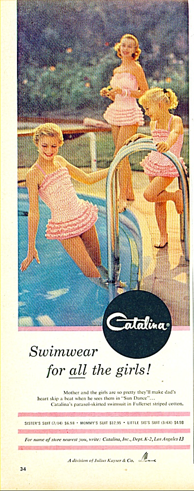 1956 -  Catalina swimwear ad (Image1)