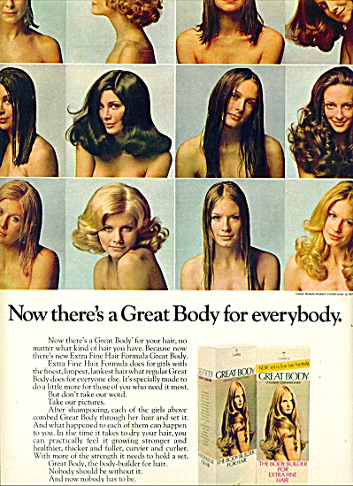1971 -  Great body CLAIROL MODELS AD (Image1)