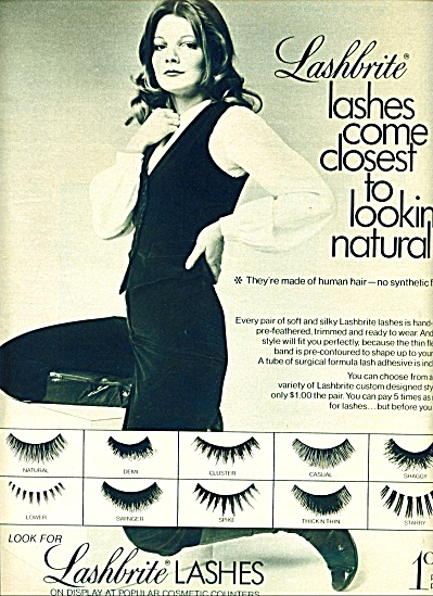 1971 -  LASHBRITE AD  CUTE MODEL (Image1)