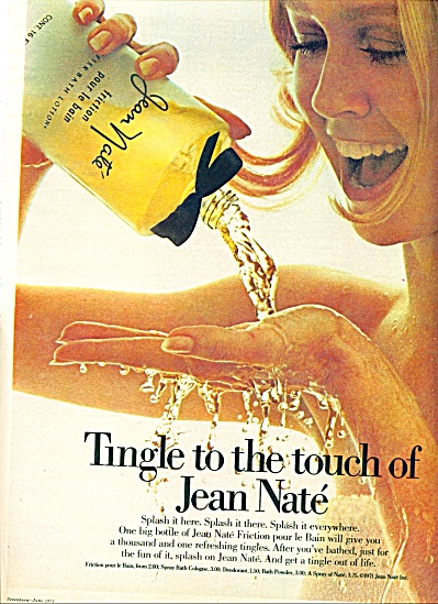1971 -  Jean Nate friction pour le Bain AD MODEL (Image1)