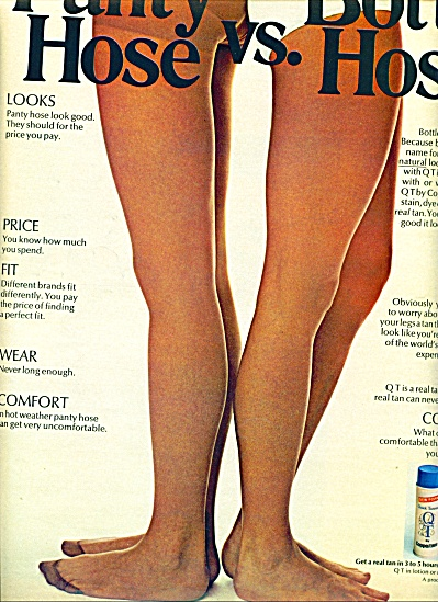 1971 -  Panty hose vs. bottle hose ad (Image1)