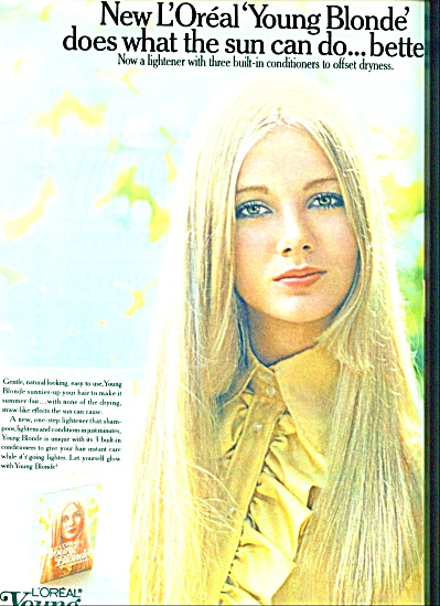 1971 L'Oreal Young blonde ad PIA BUGGERT (Image1)