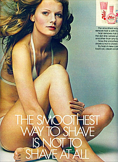 1971 - Nair Hair Removal Ad Joan Thompson