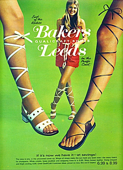 1971 -  Bakers qualicraft shoes ad BLONDE MODEL (Image1)