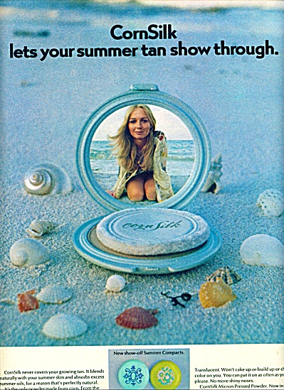 1971 -  Corn Silk powder ad PIA BUGGERT (Image1)
