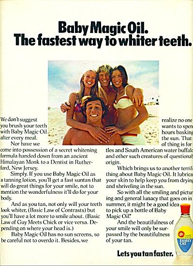 1971 - Baby Magic Oil ad (Image1)