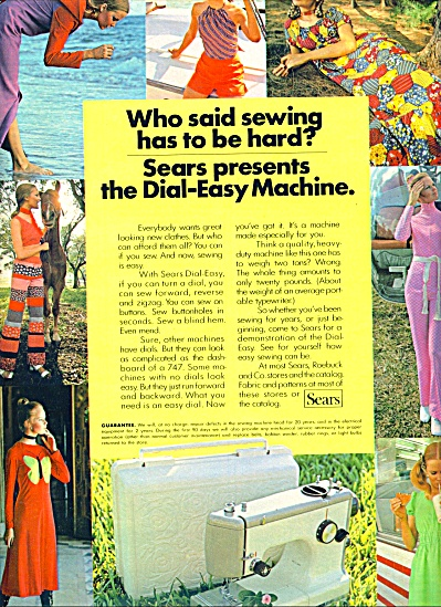 1971 -  SEARS SEWING MACHINE AD BLONDE MODEL (Image1)