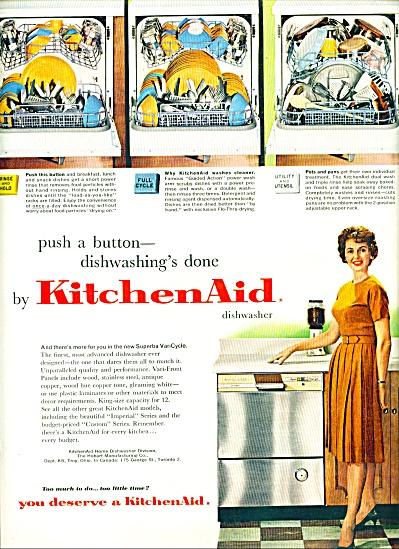 1961 - Kitchen Aid dishwasher ad (Image1)