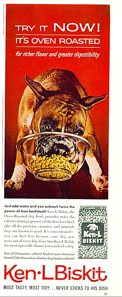 1962 -  Ken-L Biskit dog food ad (Image1)