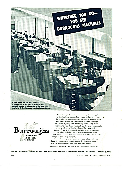 Burroughs Adding Machines ad 1946 (Image1)