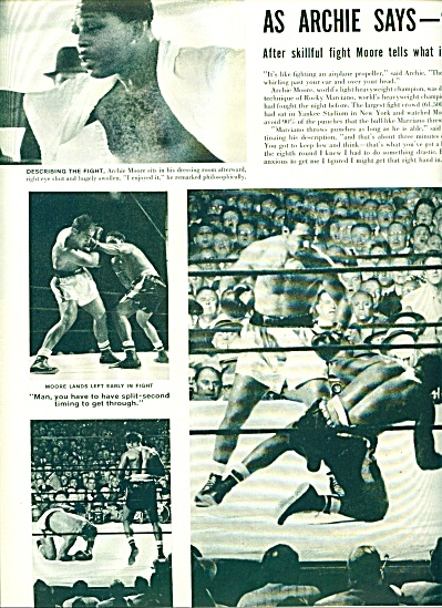 1955 - Rocky Marciano Beats Archie Moore