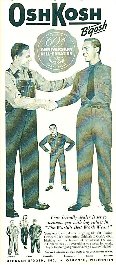 1955 - Oshkosh work wear ad (Image1)