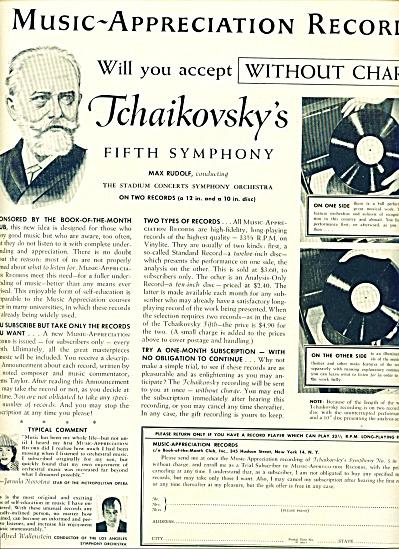 1955 - Music appreciation records ad (Image1)