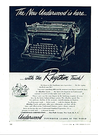 Underwood Typewriter ad 1946 (Image1)