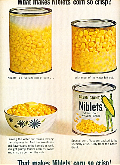1965 -  Green Giant Niblets ad (Image1)