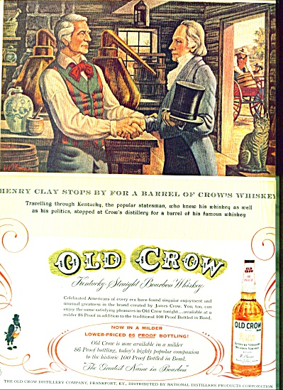1957 -  Old Crow whiskey ad (Image1)