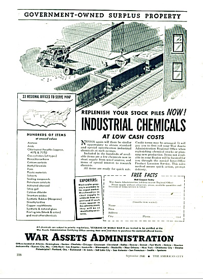War Assets Administration ad 1946 (Image1)