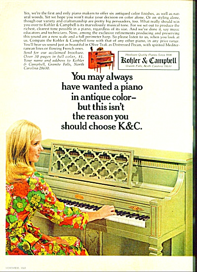 1969 -  Kohler & Campbell pianos ad (Image1)