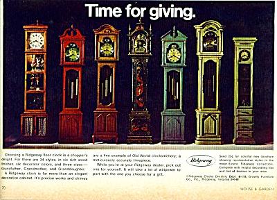 1969 -   Ridgeway floor clock ad (Image1)