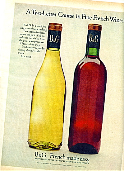 1969 - B & G Wines From France