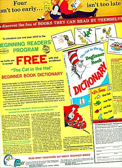 July 1965 -=  Beginning readers program ad (Image1)