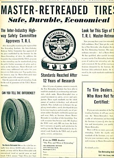1955 - Master Retreaded tires ad (Image1)