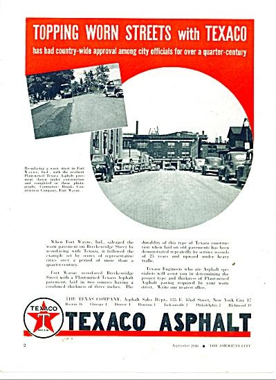 1946 Texaco Asphalt  AD FORT WAYNE INDIANA ST (Image1)