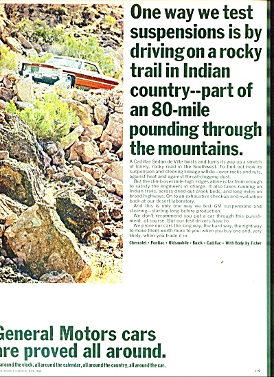General Motors cars 1965 ad Cadillac in Indian Country (Image1)