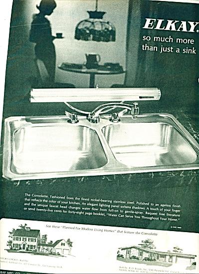 Elkay stainless steel sinks ad 1965 (Image1)